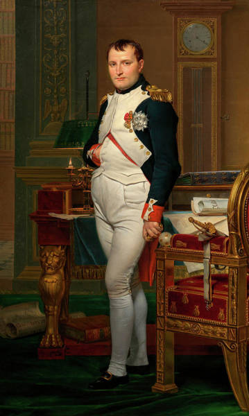 Crown Imperial Painting - The Emperor Napoleon In His Study At The Tuileries by Jacques-Louis David