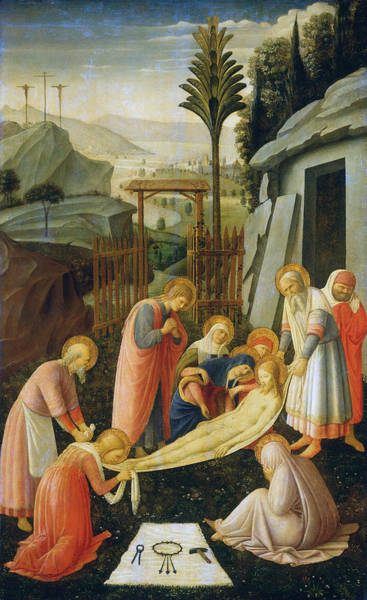 Redeemer Wall Art - Painting - The Entombment Of Christ by Fra Angelico