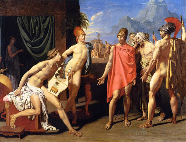 Wall Art - Painting - The Envoys Of Agamemnon by Jean-Auguste-Dominique Ingres