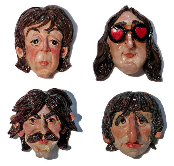 Ringo Star Mixed Media - The Fab Four by Karen Fulk