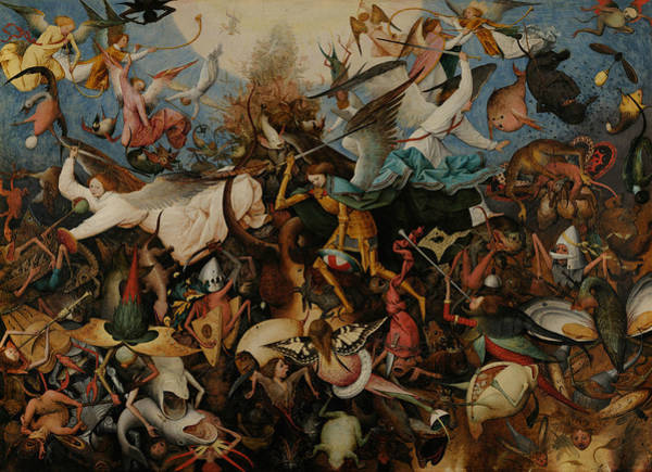 Renaissance Painters Wall Art - Painting - The Fall Of The Rebel Angels by Pieter Bruegel the Elder