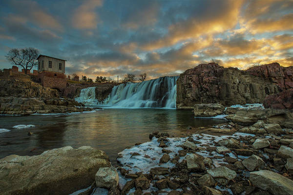 Sioux Wall Art - Photograph - The Falls  by Aaron J Groen