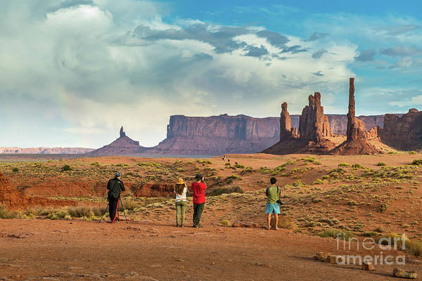 Wall Art - Photograph - The Famous Rock Formations Of Monument Valley In Utah. by Jamie Pham