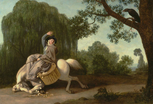 Broken Egg Painting - The Farmer's Wife And The Raven by George Stubbs