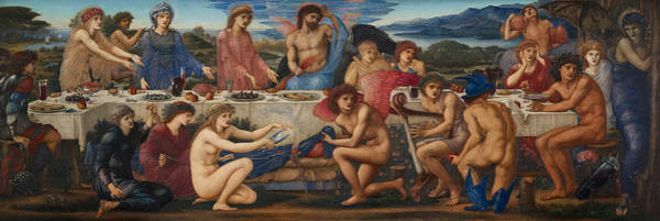 Painting - The Feast Of Peleus by Edward Burne-Jones