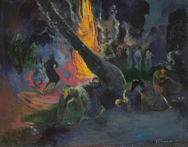 Painting - The Fire Dance by Paul Gauguin