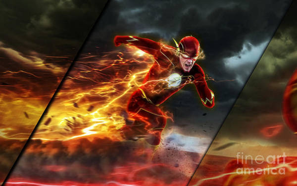 Wall Art - Mixed Media - The Flash Collection by Marvin Blaine