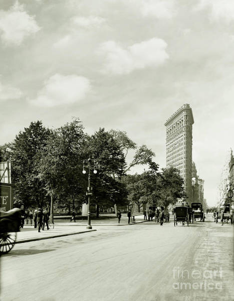 The Empire Photograph - The Flatiron Building 1906 by Jon Neidert