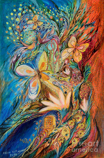 Wall Art - Painting - The Flowers And The Fruits by Elena Kotliarker