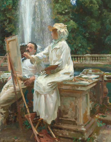 The Fountain Villa Torlonia Frascati Italy Art Print