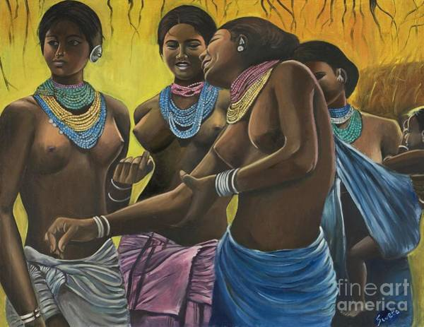 Tribal Woman Wall Art - Painting - The Garb Of Innocence by Sweta Prasad