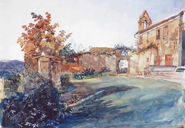 Painting - The Garden Of San Miniato Near Florence by John Ruskin