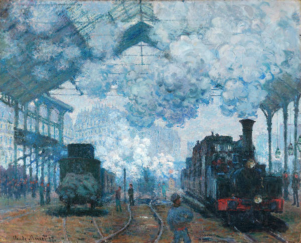 Wall Art - Painting - The Gare Saint-lazare Arrival Of A Train by Claude Monet