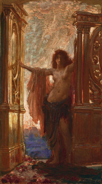 Herbert Draper Painting - The Gates Of Dawn by Herbert James Draper