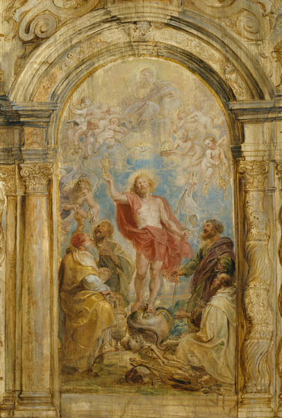 Painting - The Glorification Of The Eucharist by Peter Paul Rubens
