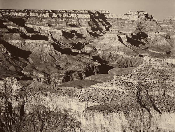 Gully Photograph - The Grand Canyon by Ansel Adams