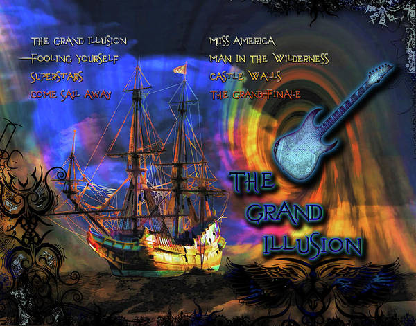 Come Sail Away Digital Art - The Grand Illusion by Michael Damiani