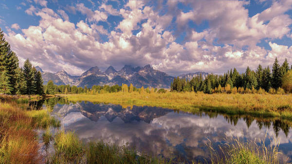 Photograph - The Grand Tetons National Park Autumn Olena Art Fall Colors Photography by OLena Art - Lena Owens