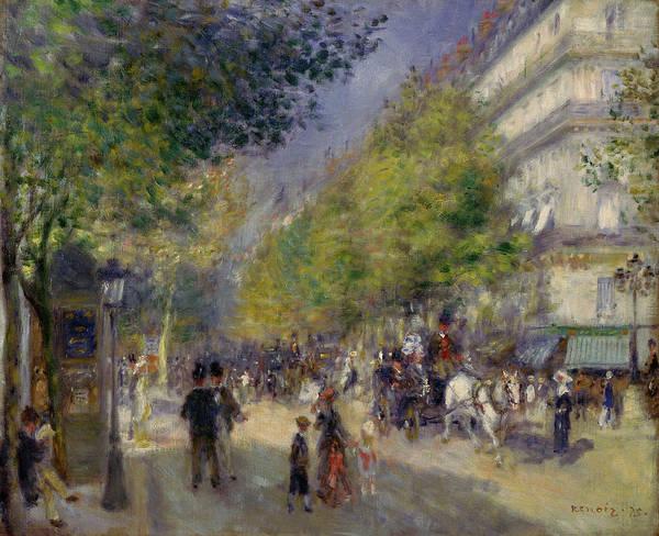 Boulevard Painting - The Grands Boulevards by Pierre-Auguste Renoir