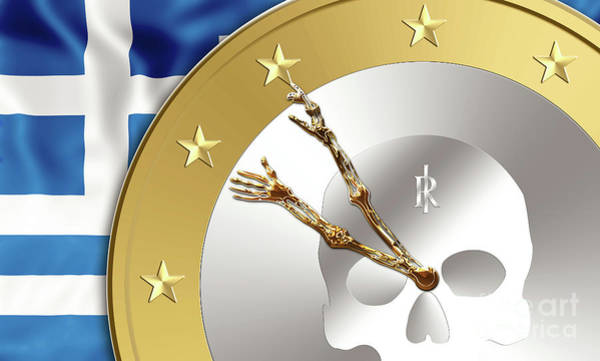 Digital Art - the Greece time by Benny Marty