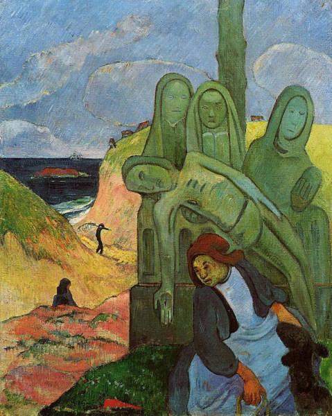 Redeemer Wall Art - Painting - The Green Christ by Paul Gauguin