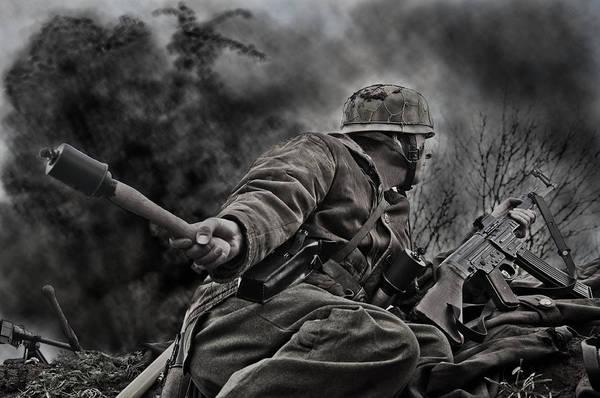 Grenade Wall Art - Photograph - The Grenadier by Mark H Roberts