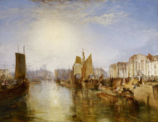 J. M. W. Turner Painting - The Harbor Of Dieppe by JMW Turner
