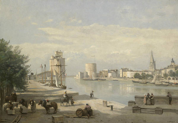 Painting - The Harbor Of La Rochelle by Jean-Baptiste-Camille Corot