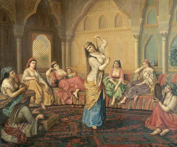 Painting - The Harem Dancer by Sandor Alexander Svoboda
