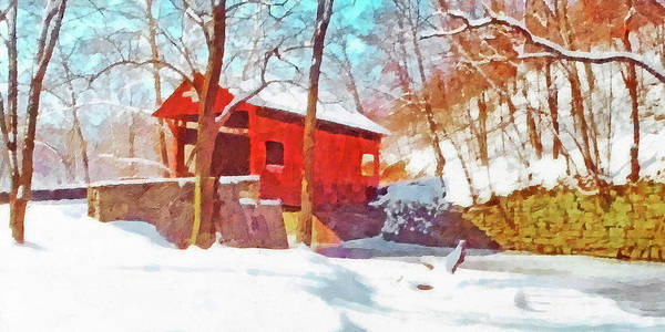 Digital Art - The Henry Bridge In Winter 2 by Digital Photographic Arts