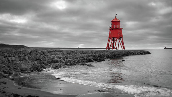 Wall Art - Photograph - The Herd Groyne Lighthouse by Mike Walker