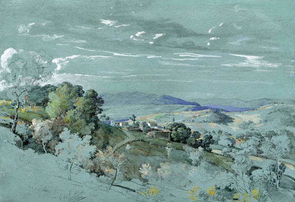Painting - The Hills Of Umbria Near Perugia by Johann Georg von Dillis