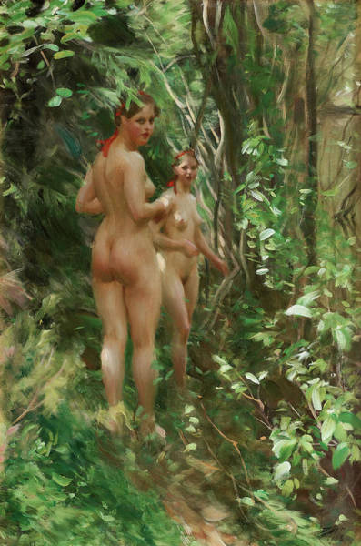 Having Sex Painting - The Hinds by Anders Zorn