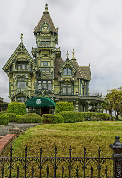 Queen Anne Style Photograph - The Historic Carson Mansion - Eureka California by Mountain Dreams