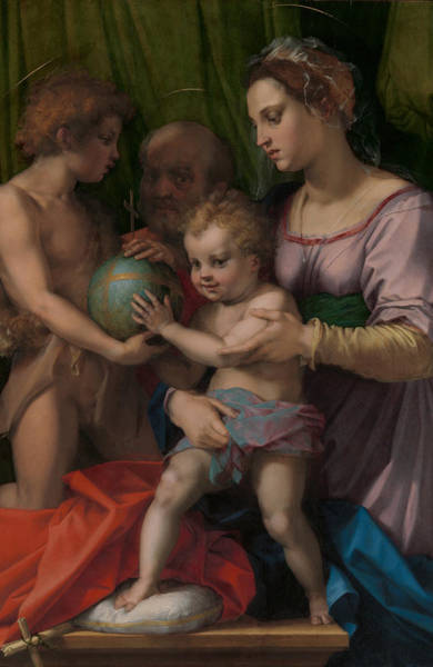 Wall Art - Painting - The Holy Family With The Young Saint John The Baptist  by Andrea del Sarto