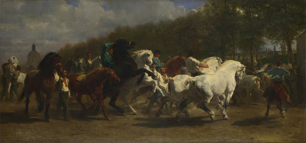 Wall Art - Painting - The Horse Fair by Rosa Bonheur And Nathalie Micas