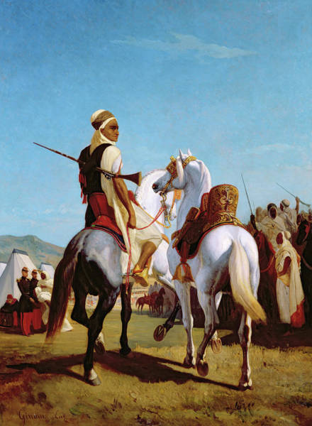 Arab Horse Painting - The Horse Of Submission by Louis Eugene Ginain