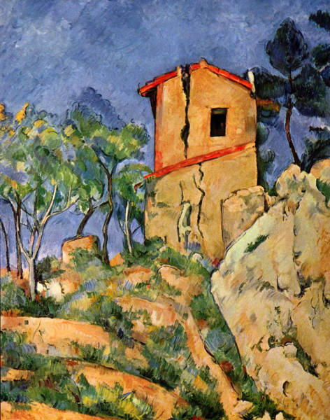 Painting - The House With Cracked Walls by Paul Cezanne