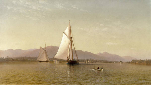 Painting - The Hudson At The Tappan Zee by Francis Augustus Silva