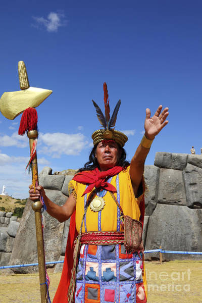 Photograph - The Inca At Sacsayhuaman by James Brunker