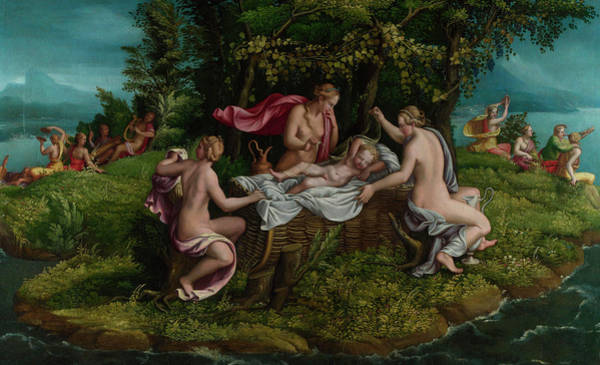 Giulio Painting - The Infancy Of Jupiter by Giulio Romano