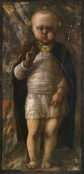 Redeemer Wall Art - Painting - The Infant Savior by Andrea Mantegna