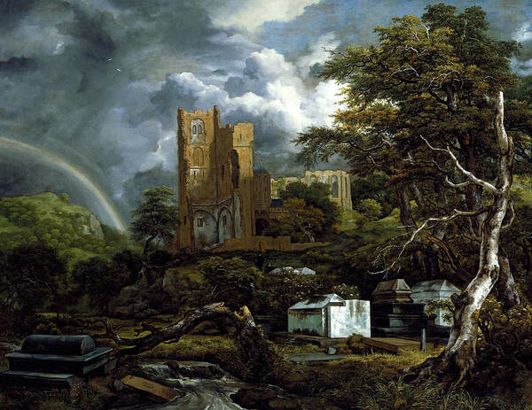 17th Century Wall Art - Painting - The Jewish Cemetery by Jacob van Ruisdael
