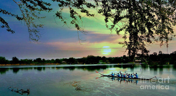 Dragon Boat Race Digital Art - The Journey Home by Ian Gledhill