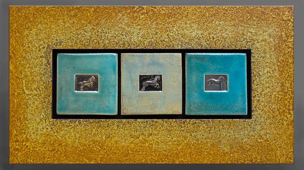 Ceramic Art - The Jump by Bates Clark