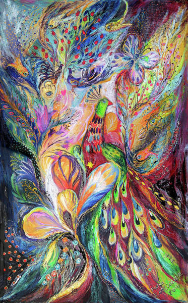 Kabbalistic Wall Art - Painting - The King Bird by Elena Kotliarker