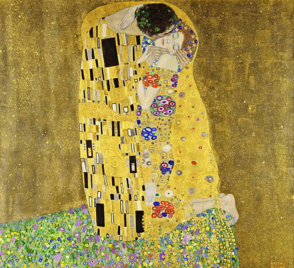 Wall Art - Painting - The Kiss 1908  by Gustav Klimt