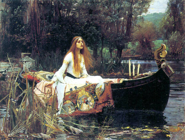 Photograph - The Lady Of Shallot by John William Waterhouse