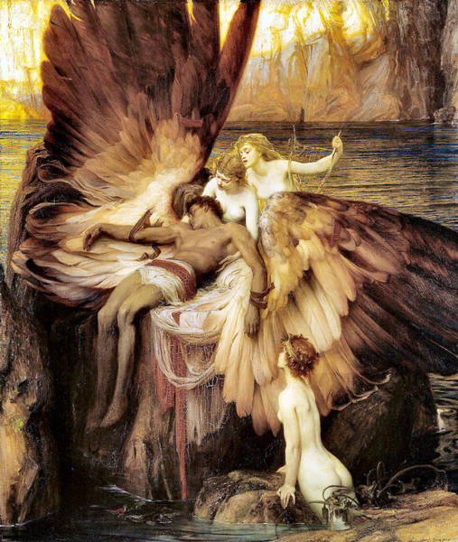 Photograph - The Lament For Icarus by Herbert James Draper