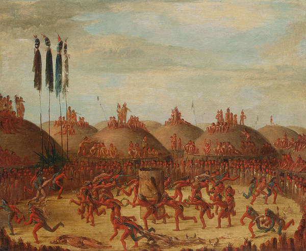 Painting - The Last Race, Mandan O-kee-pa Ceremony by George Catlin